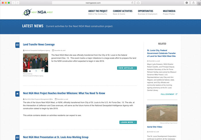 Next NGA West project latest news