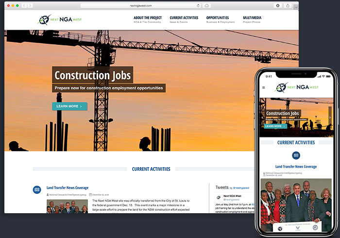 Next NGA West federal construction project website