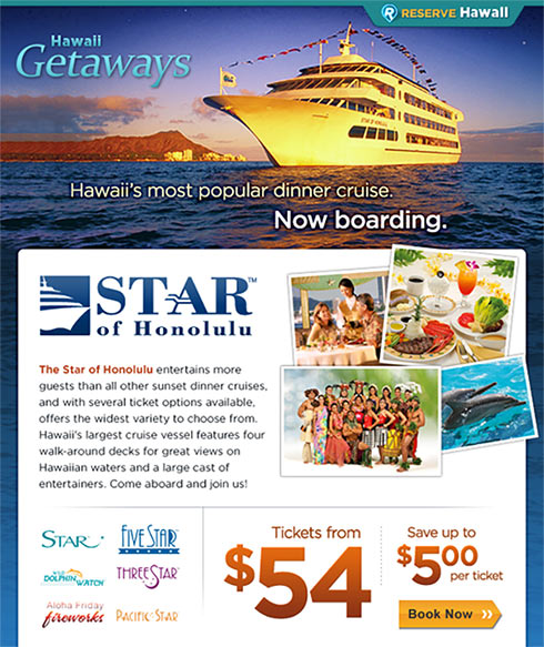 Star of Honolulu email campaign